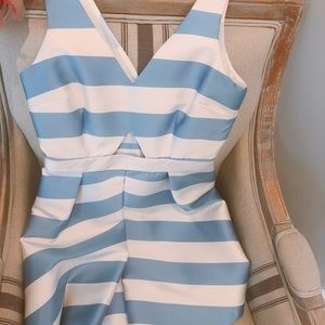 BLUE AND WHITE STRIPPED DRESS!!